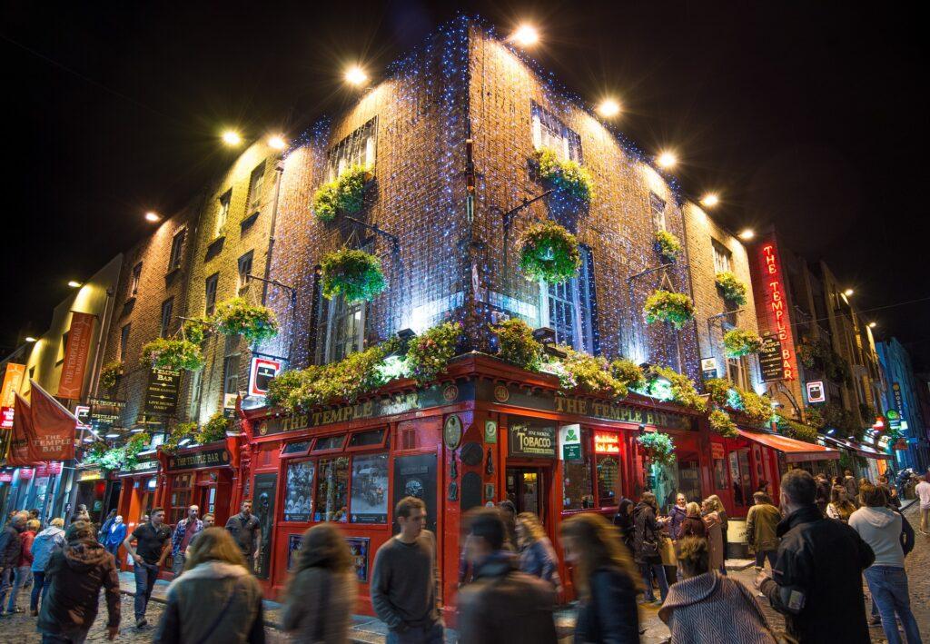Temple Bar um bairro famoso em dublin