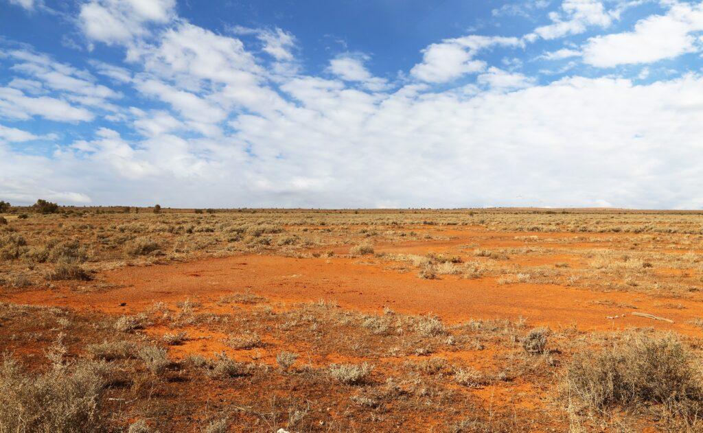 Deserto arenoso da Austrália