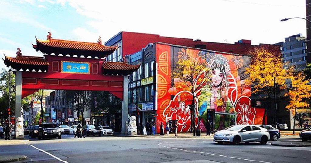 Chinatown na cidade de Montreal