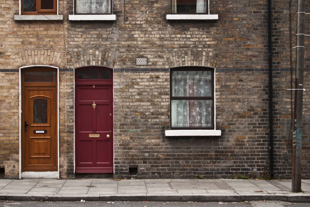 Frente de uma casa em Dublin