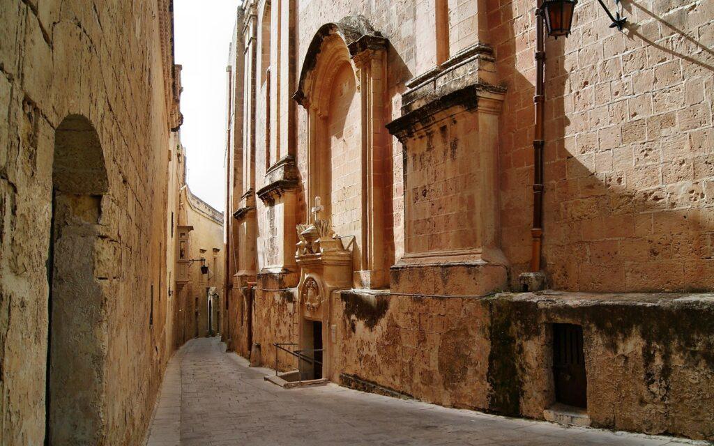 Rua de Valetta em Malta
