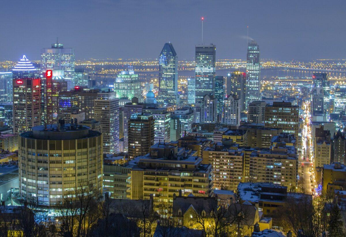 Centro da cidade de Montreal Canadá
