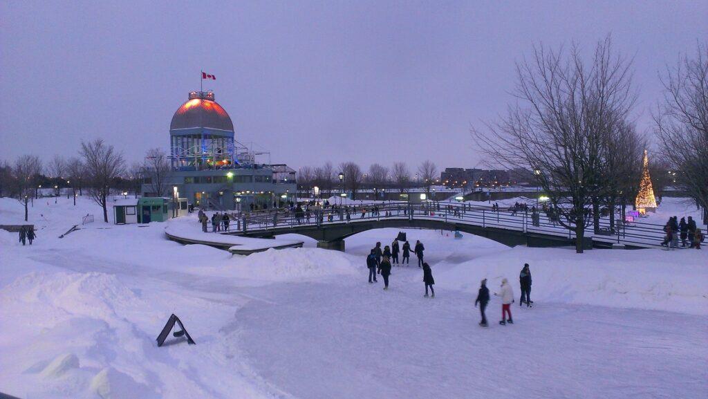 Dia nevado em Montreal