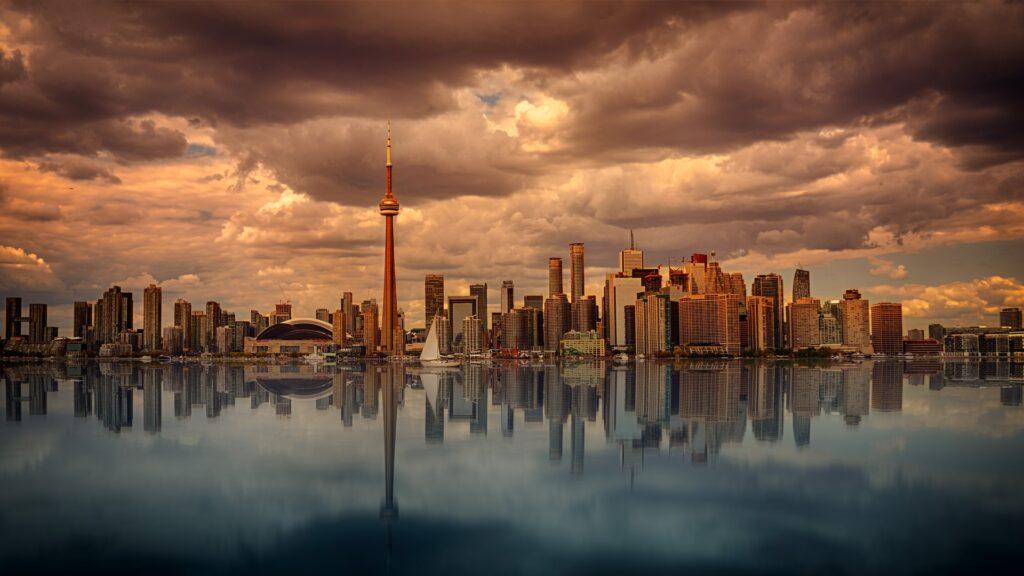 Vista de horizonte na cidade de Toronto