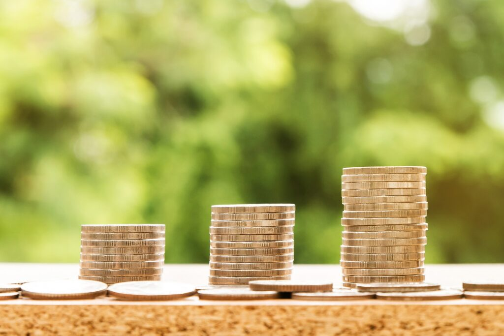 Imagem de moedas empilhadas
