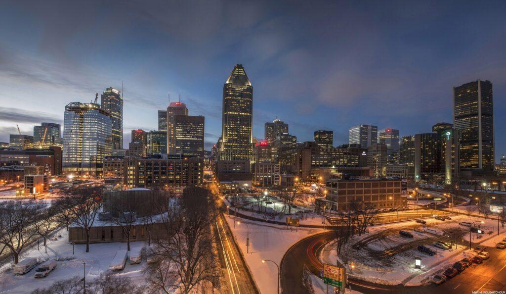 Foto da cidade de Montreal à noite