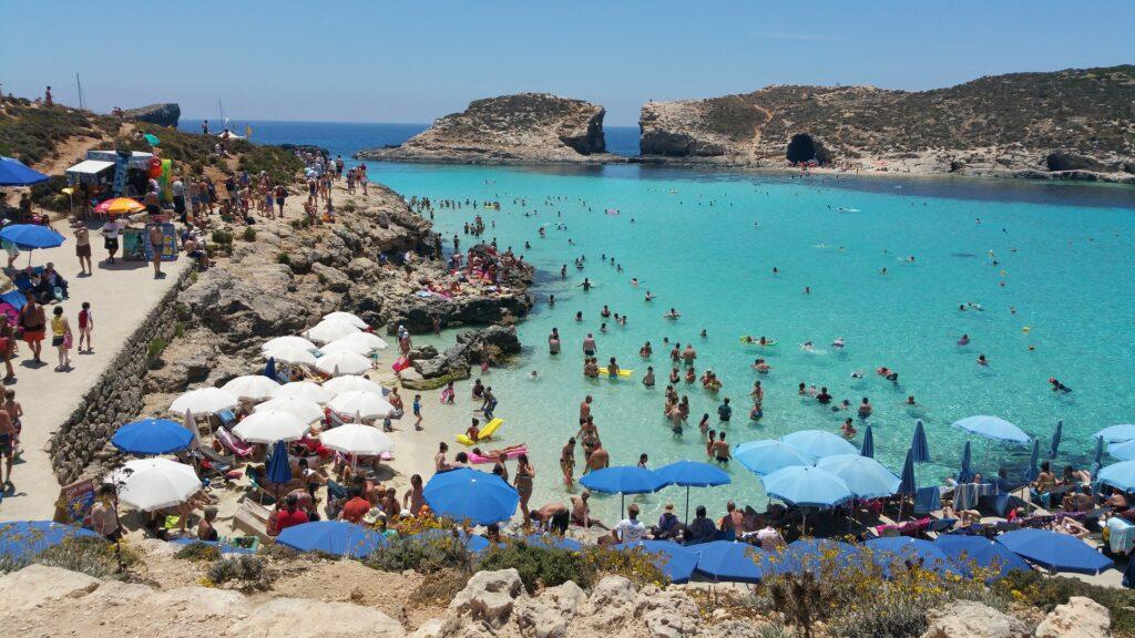 Lagoa Azul em Malta