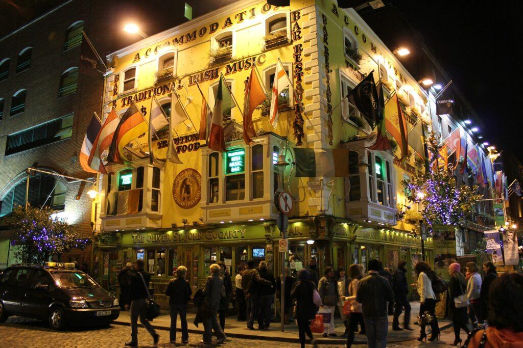 O comércio de Dublin favorece os estudantes