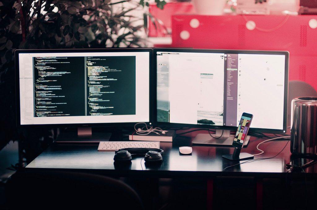 Área de trabalho de um programador