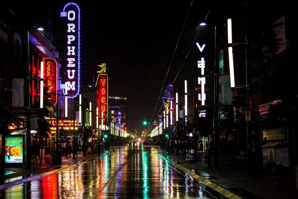 Granville Street no Canadá