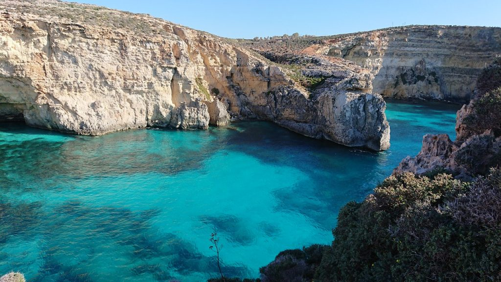 intercâmbio em Malta: praias